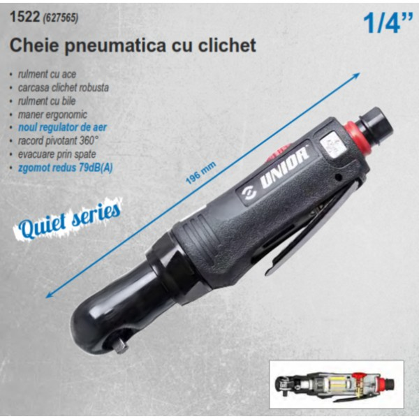 "Clichet pneumatic 1/4"" 41 Nm 1522 627565 Unior"