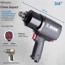 """Pistol pneumatic de impact reversibil cu variator de turatie 3/4"""" 2034 Nm 1573 627571 Unior"""