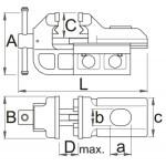 Menghina de banc tip IRONGATOR 150mm 721/6 621567 Unior